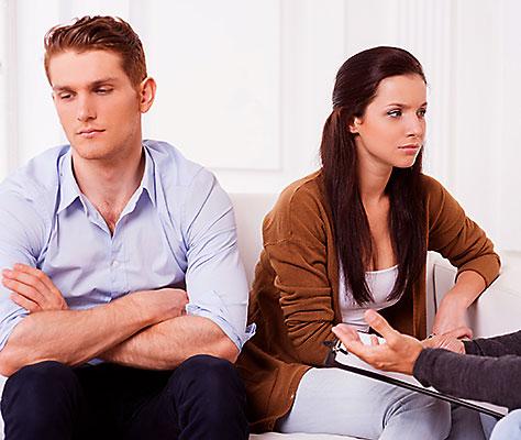 Супруги в ссоре - скорее на консультацию к психологу!